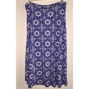 LuLaRoe Long Skirt, Medium, Hi-Lo